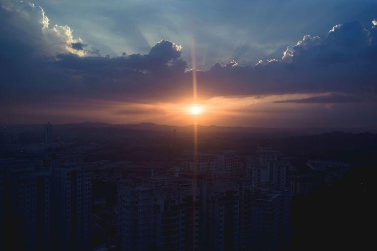 Setting Sun Sunset Landscape Evening Asdgraphy City Urban Skyline Malaysia Sony Sony A6000 Sonyimages Sonyalpha Alphauniverse Adventures In The City The Great Outdoors - 2018 EyeEm Awards #urbanana: The Urban Playground