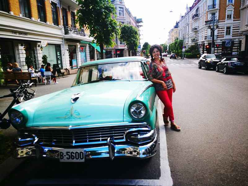 Car Collector's Car Old Car Veteran Outdoors Oslo Standing Adult Day Building Exterior Architecture Old-fashioned Transportation Full Length People City One Person