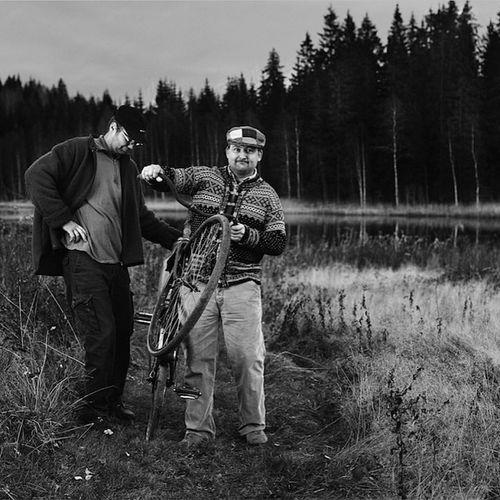 Grabbarna in Sweden Black & White Portrait