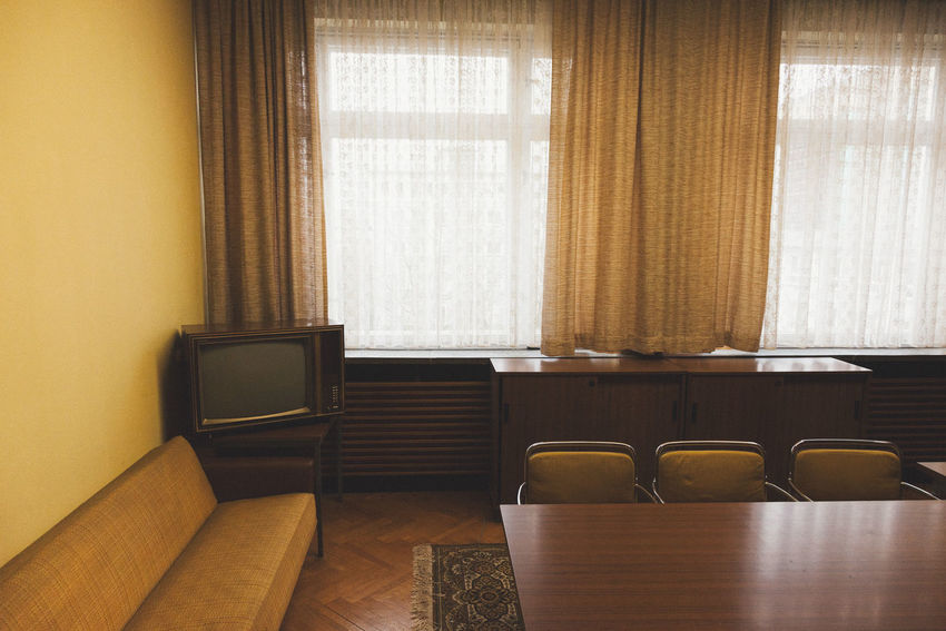 Berlin Lost Places In Berlin Stasi Museum Chair Curtain Day Home Interior Home Showcase Interior Indoors  Museum No People Table Window
