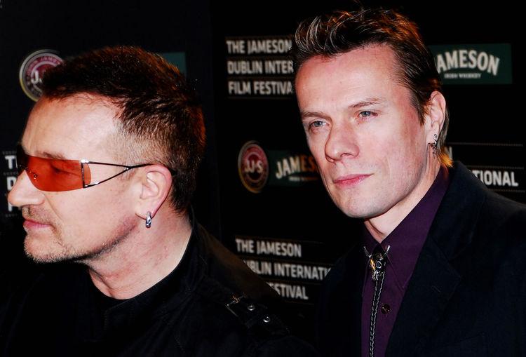 Bono Casual Clothing Close-up Eyeglasses  Front View Headshot Larry Mullen Jnr. Leisure Activity Lifestyles Mid Adult Mid Adult Men Person Portrait Smiling U2 Young Men
