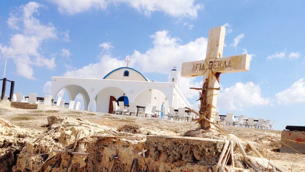 Little church of Ayia Thekla Cyprus First Eyeem Photo Church Cyprus Saint Thekla Ayianapa Cross