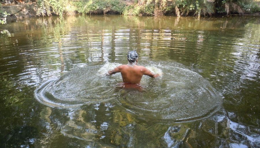 Enjoy the New Normal Enjoy The New Normal Chance Encounters Bengali Indian One Man Only Outdoors Only Men Men Adult Vacations One Person Pond Bathing Chance Encunters