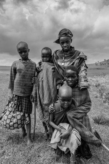 Young herders Africa, Tanzania, Masaai Tribes Kids Ngorongoro Highland