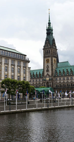 Hamburg Rathaus Alster City City Life Cityscape Hamburg Panorama Rathaus Tourist Tourist Attraction  Architecture Building Exterior Built Structure City Clock Tower Cloud - Sky Day Elbe Nature Outdoors People Sky Street Water Waterfront