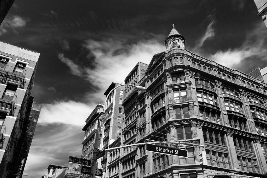 Bleecker and Broadway, New York City Architecture Balck And White Blackandwhite Bleecker Street Broadway Building Exterior Built Structure City Greenwich Village Manhattan No People Sky Travel Destinations