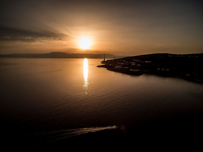 Sunset_collection Aerial Photography Architecture Beauty In Nature Day Horizon Over Water Nature No People Outdoors Reflection Scenics Sea Silhouette Sky Sun Sunlight Sunset Sunsets Tranquil Scene Tranquility Water