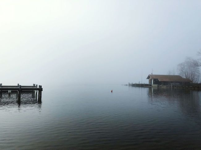 Bavaria Chiemsee Fog Water Built Structure Architecture Tranquility Outdoors Building Exterior Day Nature Waterfront Lake Tranquil Scene