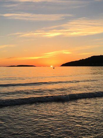 Sunset Beauty In Nature Scenics Sea Nature Orange Color Tranquil Scene