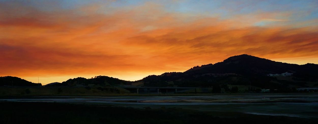 A California wildfire sunset Beauty In Nature Cloud - Sky Day Dramatic Sky Mountain Mountain Range Nature No People Outdoors Scenics Silhouette Sky Sunset Tranquil Scene Tranquility Tree Water
