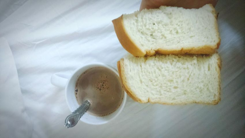 Breakfast ♥ Indoors  Close-up No People Man Made Object Representation Freshness Bread And Butter Bread And Jam Milo