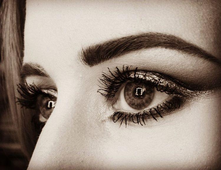 Close-up Eyelash Human Eye Human Face Makeup Portrait Staring