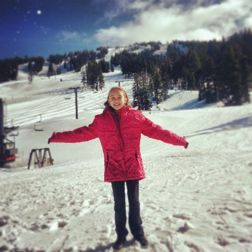 Karmen has the mountain to herself