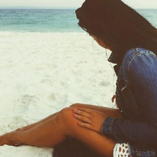 My solitude Beach Summer Vibes Summer2015 Blue Ocean Love Beach Life Jeansjacket Fashion&love&beauty