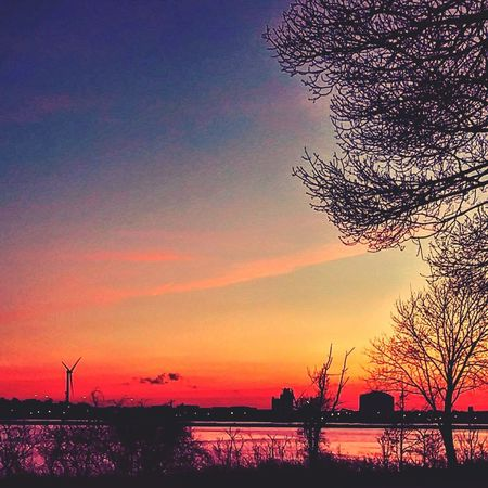 :good morning time:rise & grind:it's a new day: Cellphone Photography EyeEmNewHere Rise And Shine Drivebyphotography New England Nature Newpicture Photography Rhode Island  Riseandgrind Wintertime Silhouette Beauty In Nature Nature Scenics No People Outdoors Horizon Over Water Tranquility