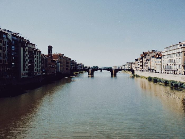 Arno Firenze Water Architecture Built Structure Building Exterior Sky Nature City Bridge Waterfront Connection No People