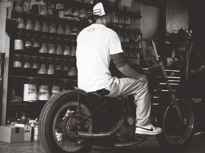 若社長シブい Motorcycle Harley-Davidson 若社長 Oldmotorcycle