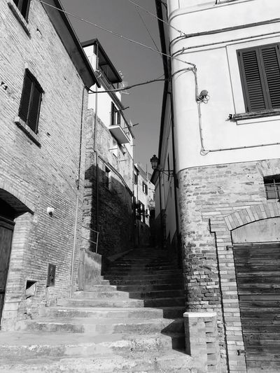 Steps Building Exterior Ancient Black And White Friday Black And White Friday