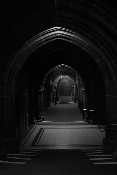 Brick Wall Religious Architecture Religion Arch Architecture Monochrome Blackandwhite Arch Indoors  The Way Forward No People Architecture Day