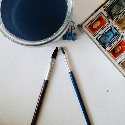 краски  кисточки Рисование