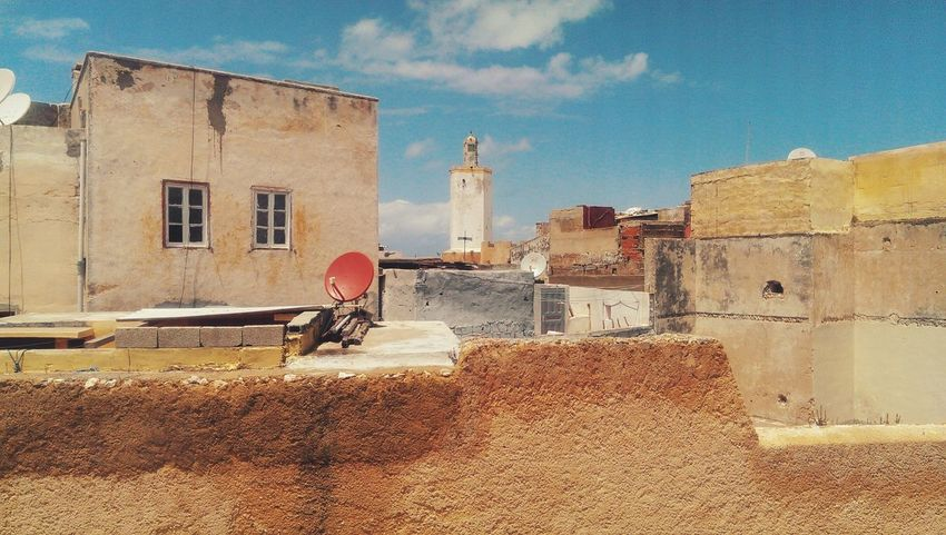 Taking Photos Hanging Out Composition Sky And Clouds Sky Old Buildings Mazagan Travel Traveling Historic History Architecture Old Morocco Building Geometry Building Exterior