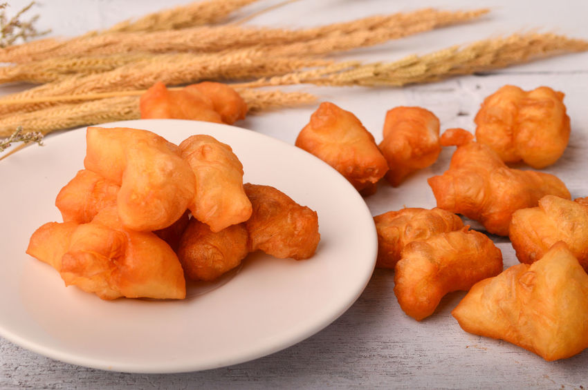 Chinese Bread Chinese Donut Chinese Doughnut Fried Bread Sticks Delicious Food Freshness Fried Ready-to-eat White Sugar Sponge Cake