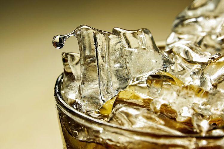 Close-up of ice cream glass