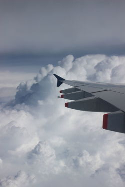 Airplane Airplane Wing Beauty In Nature Cloud - Sky Flying Nature No People Sky Transportation