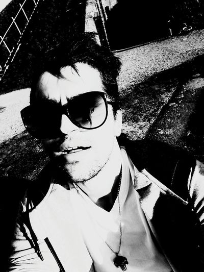 Sunglasses One Person Lifestyles Adults Only Young Adult Day People Leisure Activity Adult Real People Outdoors Young Women Only Women Summer Summertime Black And White Blackandwhite Photography Blackandwhite