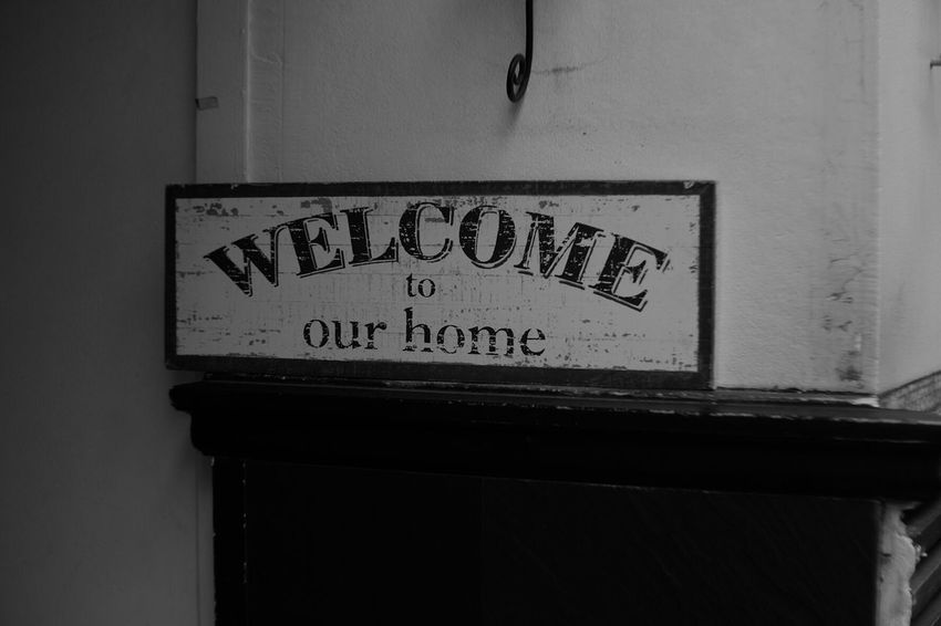 Welcome back Black And White Black And White Photography Pancolar 50mm F2 FUJIFILM X-T1 Fuji X-T1 Carl Zeiss Jena Vintage Lenses Signboard Sign