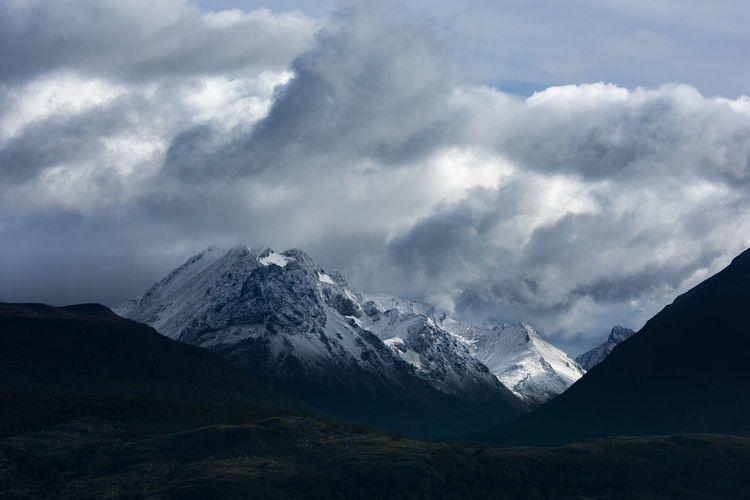 Mountain Cloud - Sky Sky Snow Mountain Range Environment Scenics - Nature Landscape Beauty In Nature Cold Temperature Winter Nature Snowcapped Mountain Mountain Peak Tranquil Scene Tranquility No People Physical Geography Non-urban Scene Outdoors Mountain Ridge