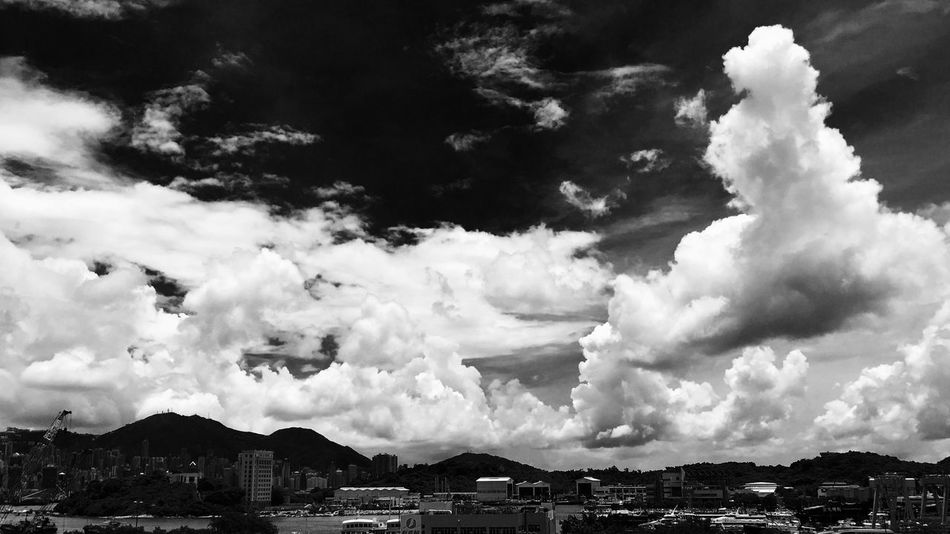 IPhoneography Sunlight And Shadow Sky And Clouds Buildings & Sky Highway Flyover Cityscape Sunlight, Shades And Shadows Building Blocks Black And White Photography
