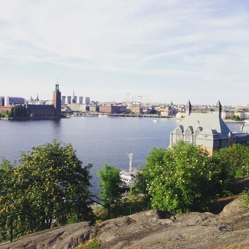 A beautiful view of city hall of Stockholm, Sweden. City Hall Gamla Stan Hill Nobel Prize Old Town Stockholm, Sweden Sunny View