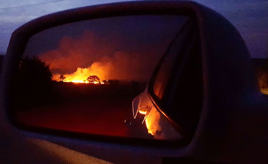 Set your past on fire and leave it in the rear view mirror. Wildfire Oklahoma Oklahoma On Fire Blaze Check This Out Nature Photography Nature_collection Burn Ban Fire Field Fire Showcase: April Past Mirror Rearview Mirror Car Showcase April