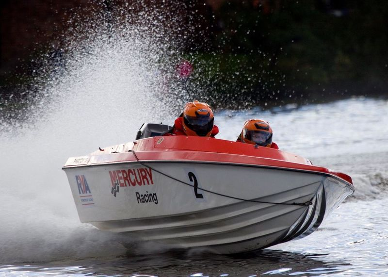 Powerboat racing at Carr Mill Water Nautical Vessel Power Boats