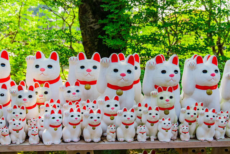 Backgrounds Buddhism Celebration Close-up Culture Day For Sale Golden Happy Holiday In A Row Landscape Lucky Manekineko No People Outdoors Photography Religious  Retail  Shrine Success Symbol Tree White Color