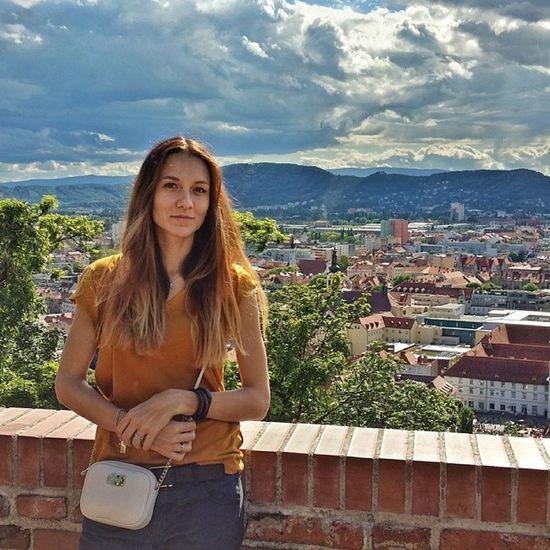 My girl @nina_paraskeva :)) Graz Austria Schloss Mik ihungary österreich innerestadt tavasz schloßberg spring