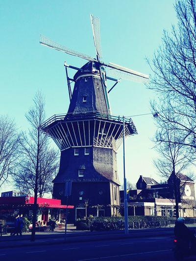 Nice Windmill Amsterdam. Amsterdam Windmill Sunny Day Holland❤