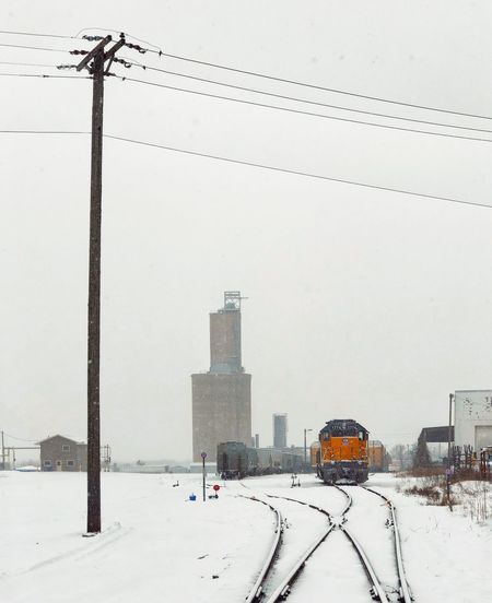 Spring Blizzard Transportation Grain Grainery Railroad Engine Railroad Railroad Track Rail Transportation EyeEm Selects Built Structure Architecture Building Exterior Winter Sky Cold Temperature Nature Snow Day City No People Building Outdoors