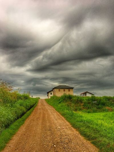 Cloud - Sky Sky The Way Forward Direction Nature Environment Road Landscape Beauty In Nature Land Diminishing Perspective Plant Scenics - Nature No People Overcast Tranquility Tranquil Scene Field vanishing point Outdoors