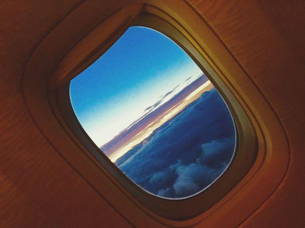 Sky Window Airplane Wing Day