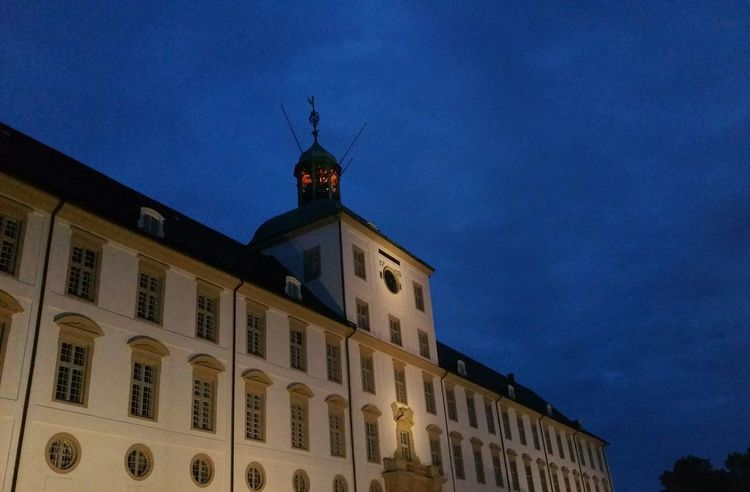 Architecture Building Exterior Night Built Structure No People Blue Outdoors Museums Schloß Gottorf Schleswig-Holstein Schleswig Concert Openair Dramatic Sky Sky