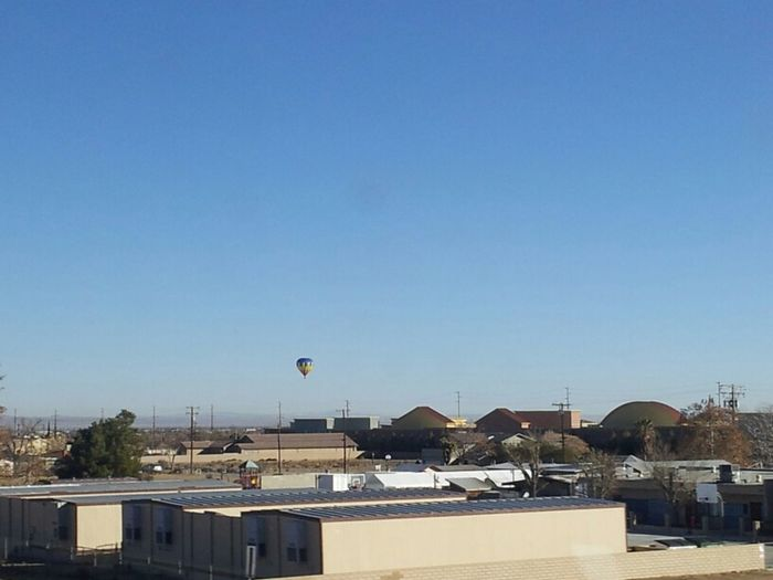 On the freeway Hot Air Balloon