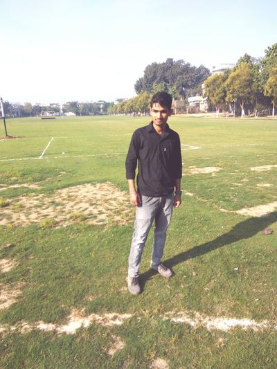 Just me Full Length One Person Portrait Only Men Looking At Camera Sport One Young Man Only One Man Only Leisure Activity Adults Only Young Adult Real People Confidence  Standing People Adult Grass Sportsman Smiling Sports Clothing First Eyeem Photo