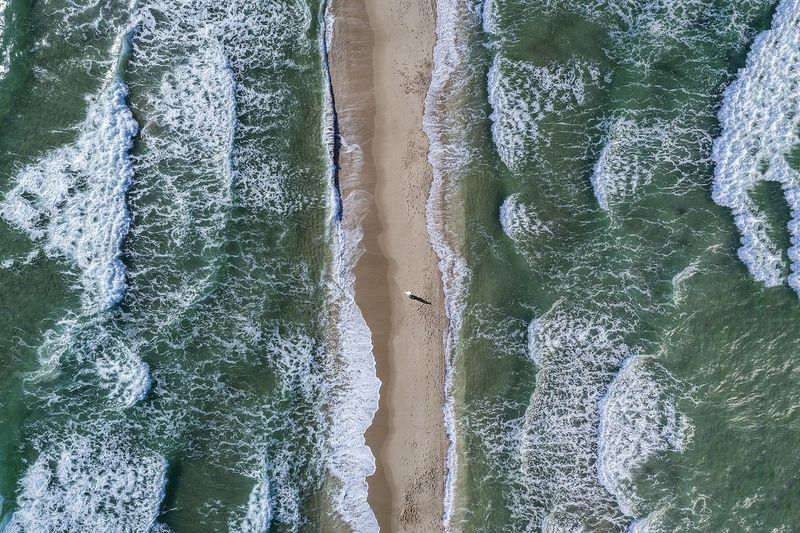 EyeEm Selects EyeEm Gallery EyeEm Nature Lover EyeEm Best Shots Wave Beach High Angle View No People Water Sand Nature Beauty In Nature Day Motion Power In Nature
