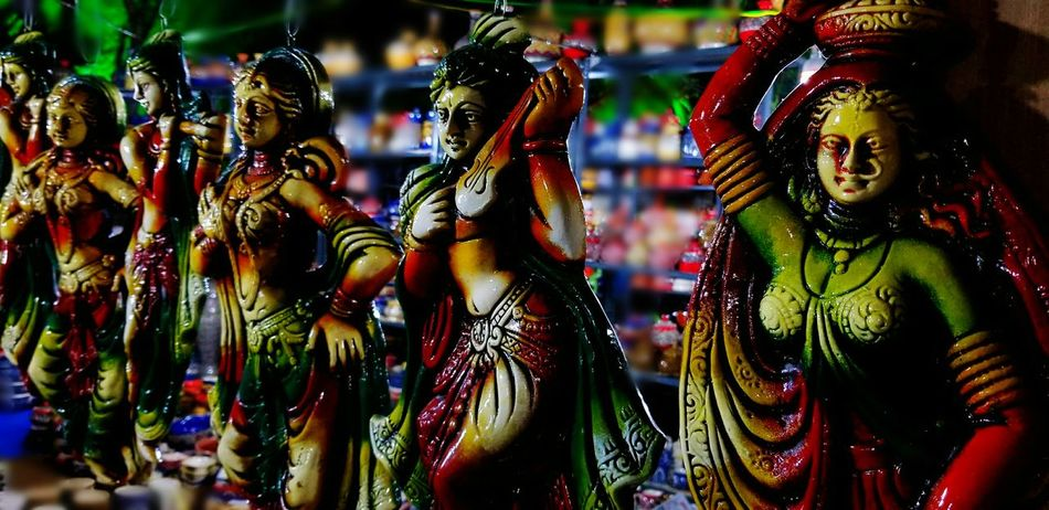 Temptingly colourful Night Traditional Blurred Sculptures colour of life Colourful Shilparamamhyderabad Multi Colored Tradition Celebration Adult Only Women