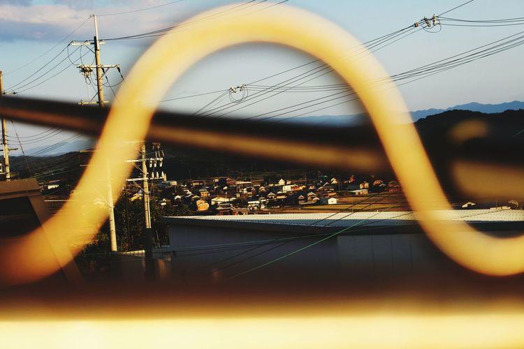 田舎暮らし トンネルの向こう 夕暮れ時 夕方の空 電柱のある風景 Reflection No People Day Outdoors Sky Close-up