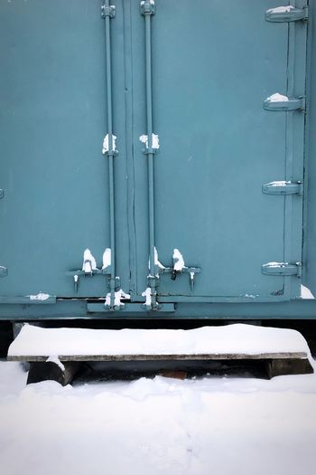 Shades Of Winter Door Day No People Blue Outdoors Built Structure Architecture Landscape_Collection The Week On Eyem Snowing Wintertime The Week On EyeEem Winter Snow Adventure Architecture White Color Snow ❄ Snow Day The Graphic City