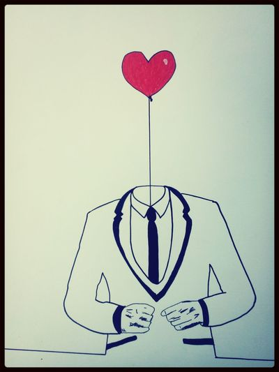 Drawing Man Heart Relax