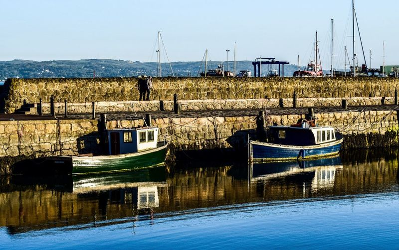 Neighborhood Map Carrickfergus Newtownabbey Northern Ireland Nautical Vessel Water Boats⛵️ Sea Nautical Water Reflections Refl Mode Of Transport Boat Day Moored Harbor Transportation Sunny Outdoors Sea Clear Sky Nature Sky Mast Architecture